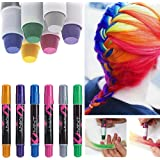 6 Couleur Craie Coloration Cheveux Teinture DIY Hair Chalk Cheveux non toxique Temporaires Coloration Cheveux Coloration, Couleurs vive Kit Coloration semi-permanente
