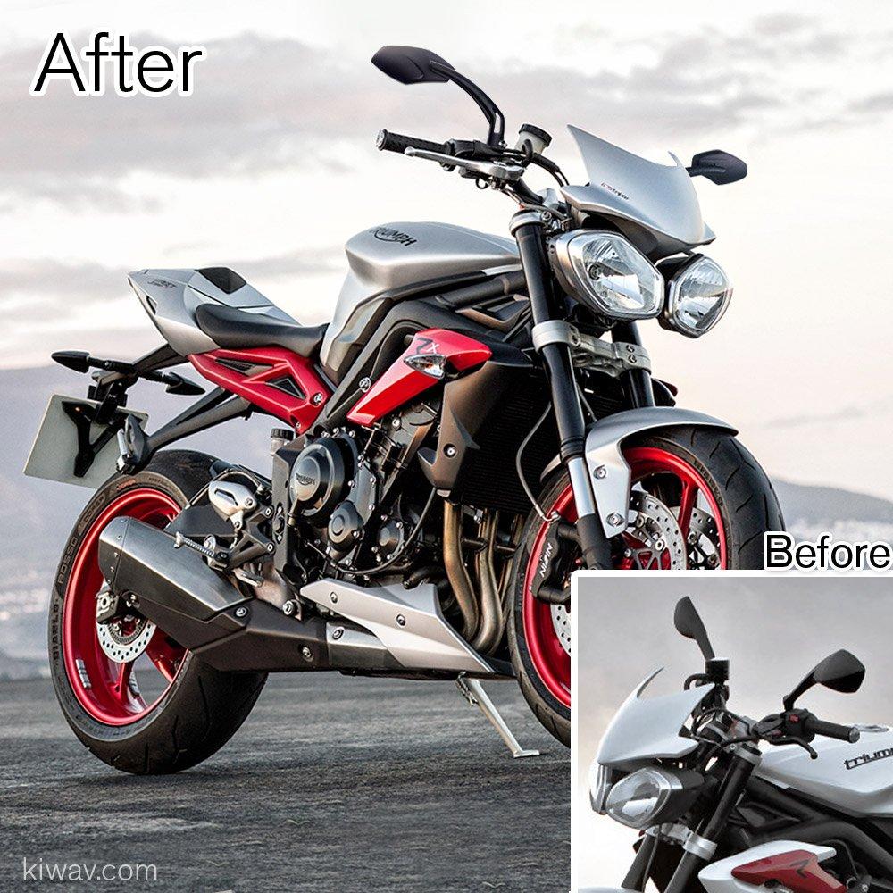 Magazi mirrors Medusa style black CNC Aluminum M10 for motorbike sportster bobber cruiser street naked road bike