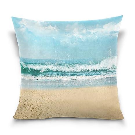 violetpos funda de cojín decoración Océano Tema Mar Playa ...