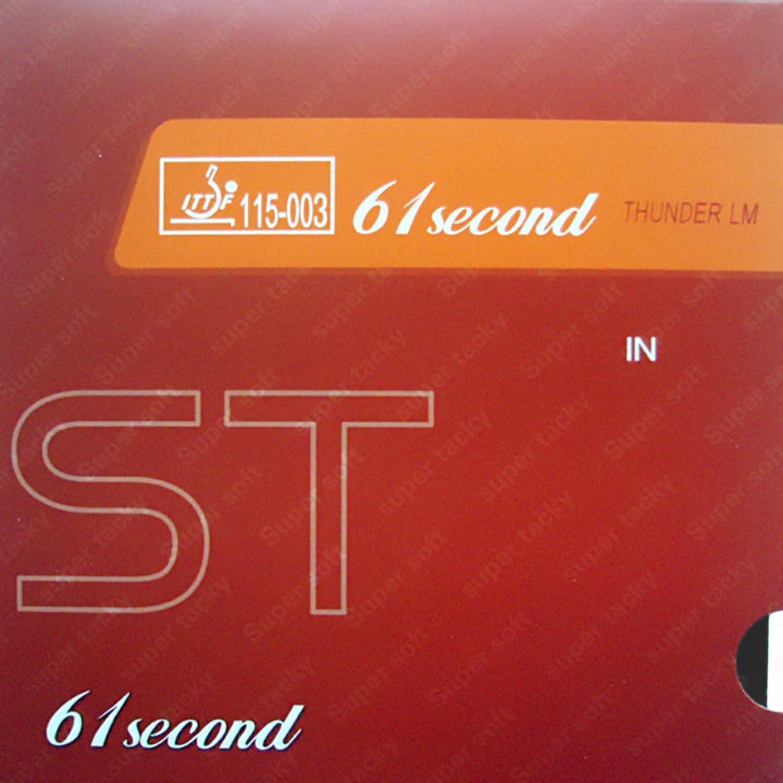 61second LM St (スーパーソフト& Super Tacky ) pips-in卓球ピンポンスポンジ付きゴム 1.5mm ブラック B00RCAGW30