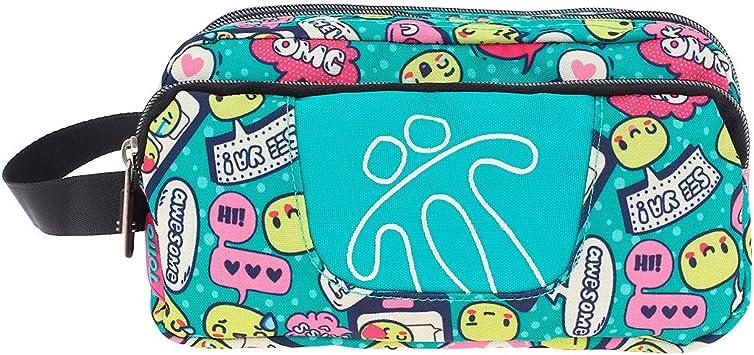 TOTTO Agapec AC52ECO009-1720Z-7VA Estuche Escolar Tres Compartimentos, 23 cm, Multicolor (7VA): Amazon.es: Oficina y papelería