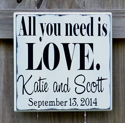 Evan332Eddie All You Need Is Love - Cartel de Boda ...