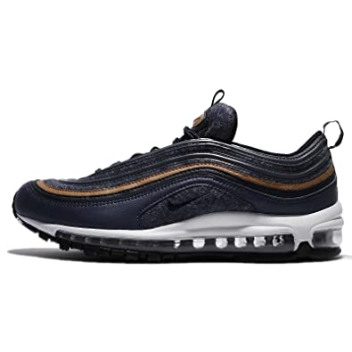 NIKE Men's Air Max 97 Premium, Thunder Blue/Dark Obsidian-Ale Brown,