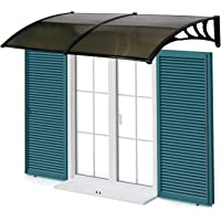 Peach Tree Overhead Door Window Outdoor Awning Door Canopy Patio Cover  Modern Polycarbonate Rain Snow Protection