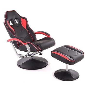 Schreibtisch Colourliving® Hocker Aus Stuhl Mit Gaming Schwarz ZwPTilXOuk