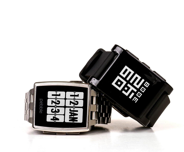 Pebble Steel Acero Inoxidable Reloj Inteligente: Amazon.es ...