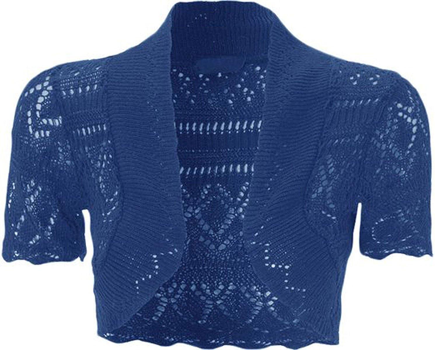 2-13 Years ZEE FASHION New Kids Girls Bolero Knitted Cardigan Shrugs Top Age