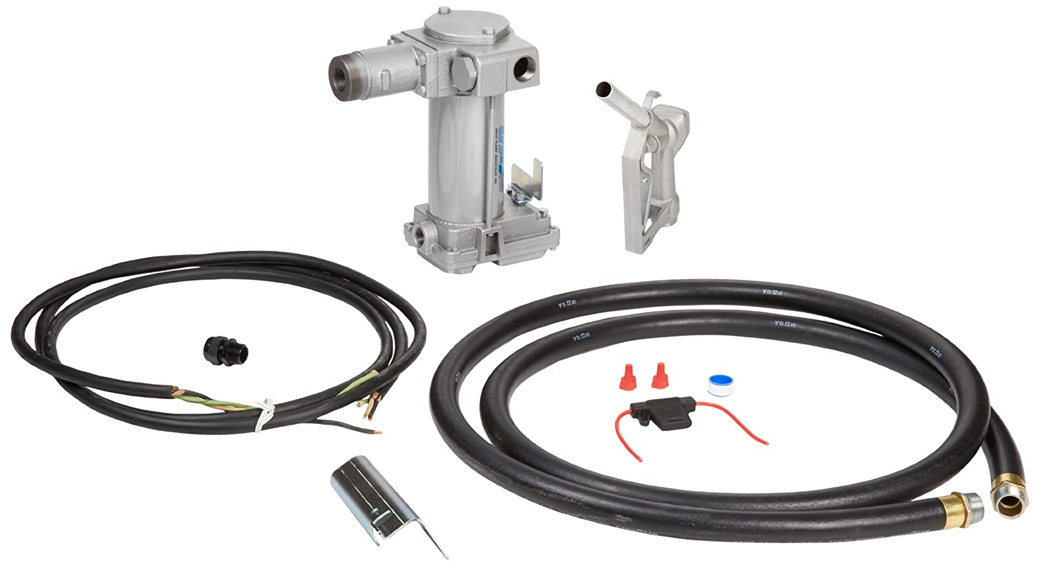 Gpi 133240 1 M 3025 Ml High Flow Cast Iron Fuel Pump Wiring Diagram Transfer 12 Vdc 25 Gpm Inch Npt X 18 Foot Hose Manual Leaded Nozzle