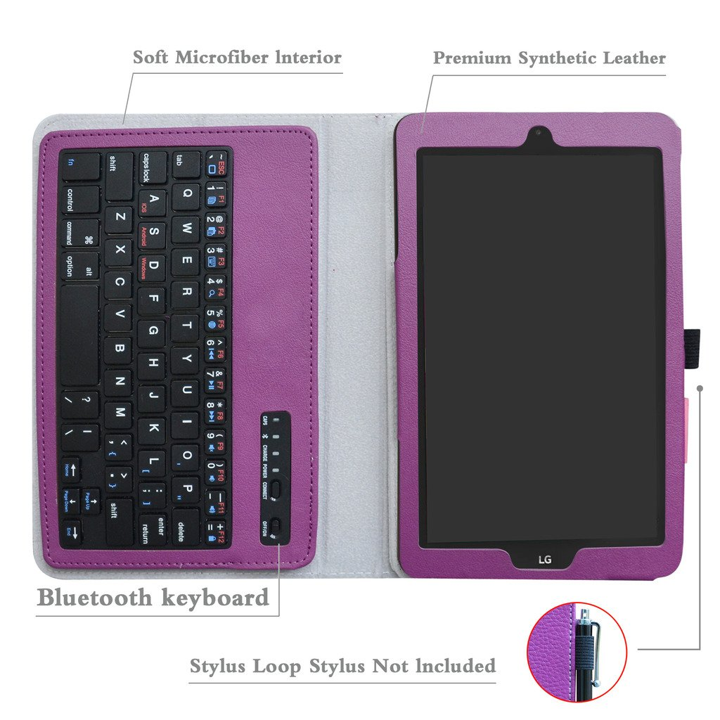 T-Mobile LG G Pad X2 8.0 Plus/Sprint G Pad F2 8.0 Case,Mama Mouth Slim Stand PU Leather Cover with Romovable Wireless Keyboard for LG G Pad X2 8.0 ...