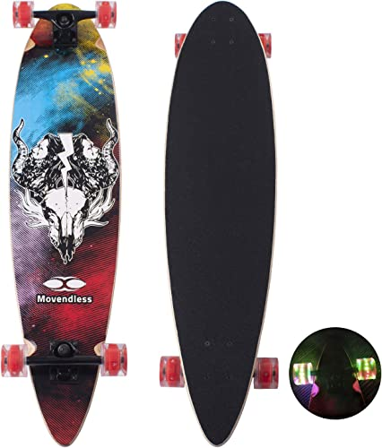 YD-0009 Longboard 39 Inches Drop Down 9 Layer Maple Wood Skateboard Complete