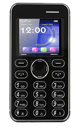 Kechaoda K116 1.44 inch QQVGA Display Slim Card Size GSM Single SIM Keypad Mobile (Black) Basic Mobiles at amazon