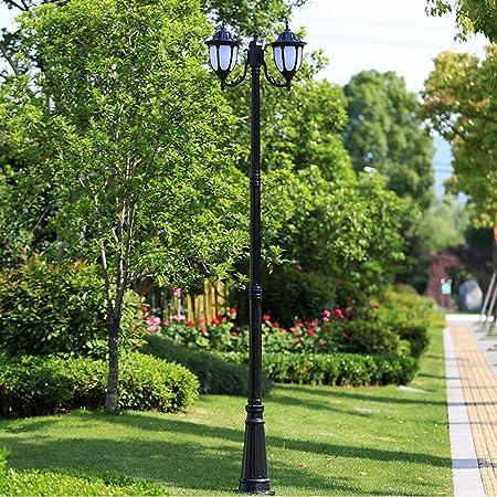 E27 Power European Retro IP55 Luces impermeables para pilares, 1 luz, poste exterior, farol, barra alta, jardín, luces de calle (Color : Black -2.8m): Amazon.es: Hogar