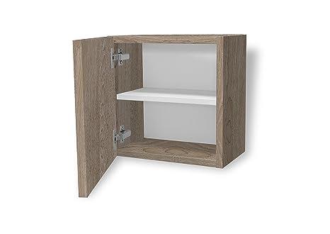 Aleghe Complemento Madera Mueble Auxiliar de baño, Canela, 36.00x22.00x35.00