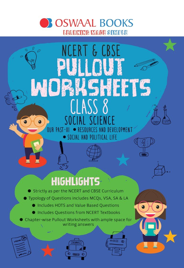 Oswaal NCERT & CBSE Pullout Worksheets Social Science Class 8 (For 2022 Exam)