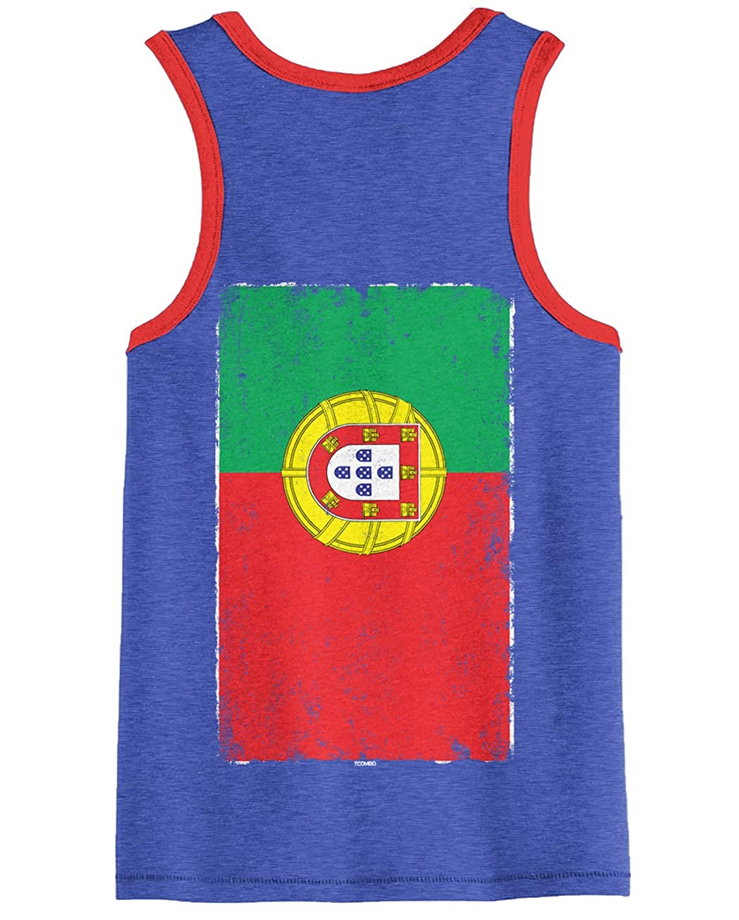 Portugese Heritage Unisex 2-Tone Tank Top Distressed Portugal Flag