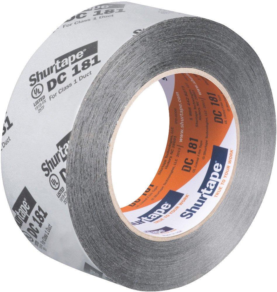 Metalized Print Shurtape DC 181 UL 181B-FX Listed//Printed Film Tape 1 Roll 48mm x 110m 164686