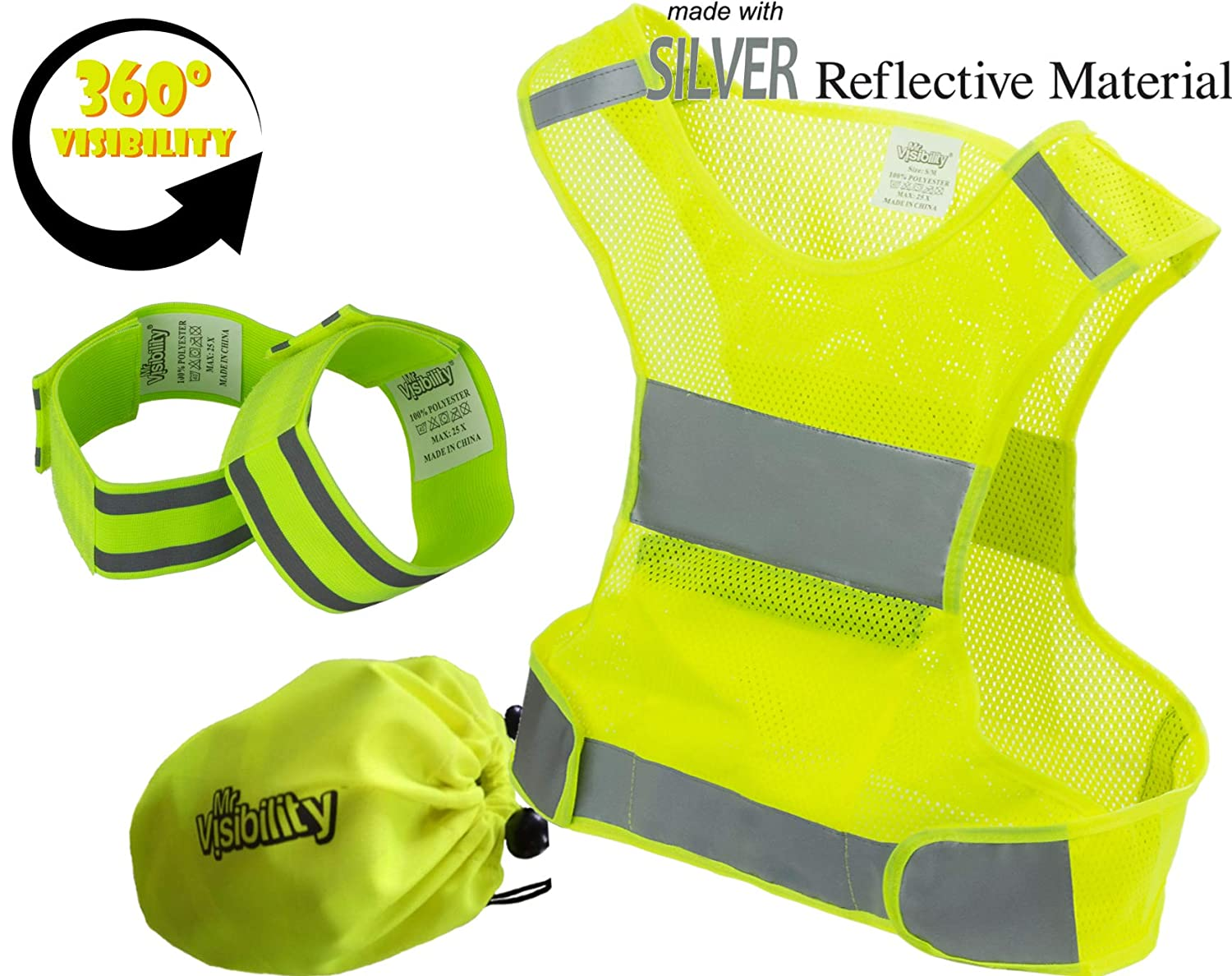 Clever Running Reflective Vest Accident Vests Reflective Safety Vest For Bike Motorcycle Cycling Motorcycling Traffic Road Works Back To Search Resultssports & Entertainment Vests