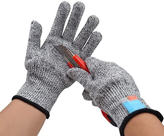 Safety Cut Proof Stab Resistant Stainless Steel Wire Metal Mesh Butcher Gloves @