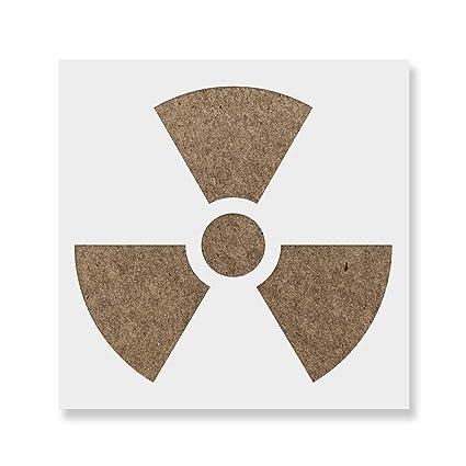 radioactive plantilla para paredes y manualidades - Plantillas ...