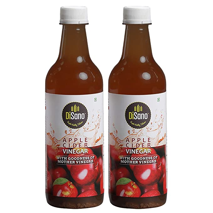 DiSano Apple Cider Vinegar with Mother Vinegar, Raw, Unfiltered, Undiluted - 500 ml (2 x 500ml)