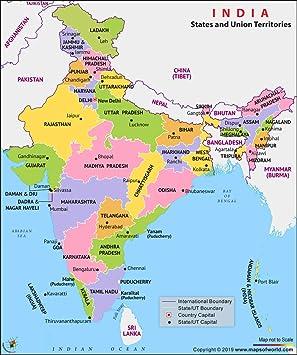 India Mapa Político (36