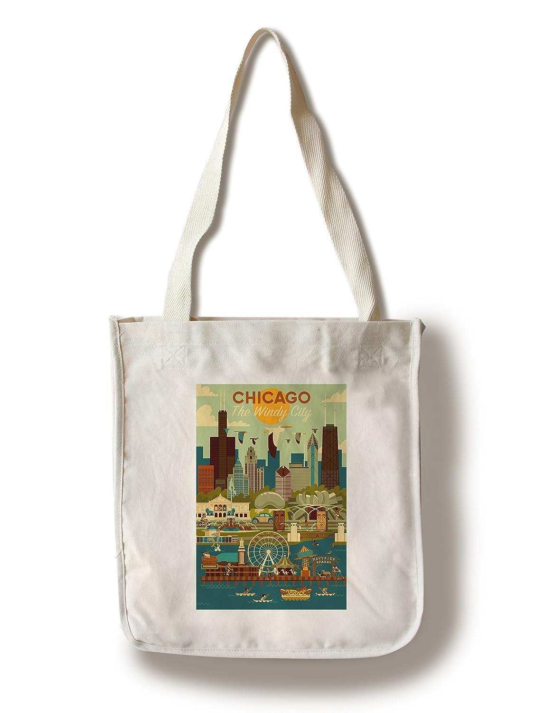 人気特価激安 シカゴ Tote B076PT9S4B、イリノイ州 – Bag Geometric 16 x 24 Giclee Print LANT-83140-16x24 B076PT9S4B Canvas Tote Bag Canvas Tote Bag, OUTLET GRAMO:80084146 --- 4x4.lt