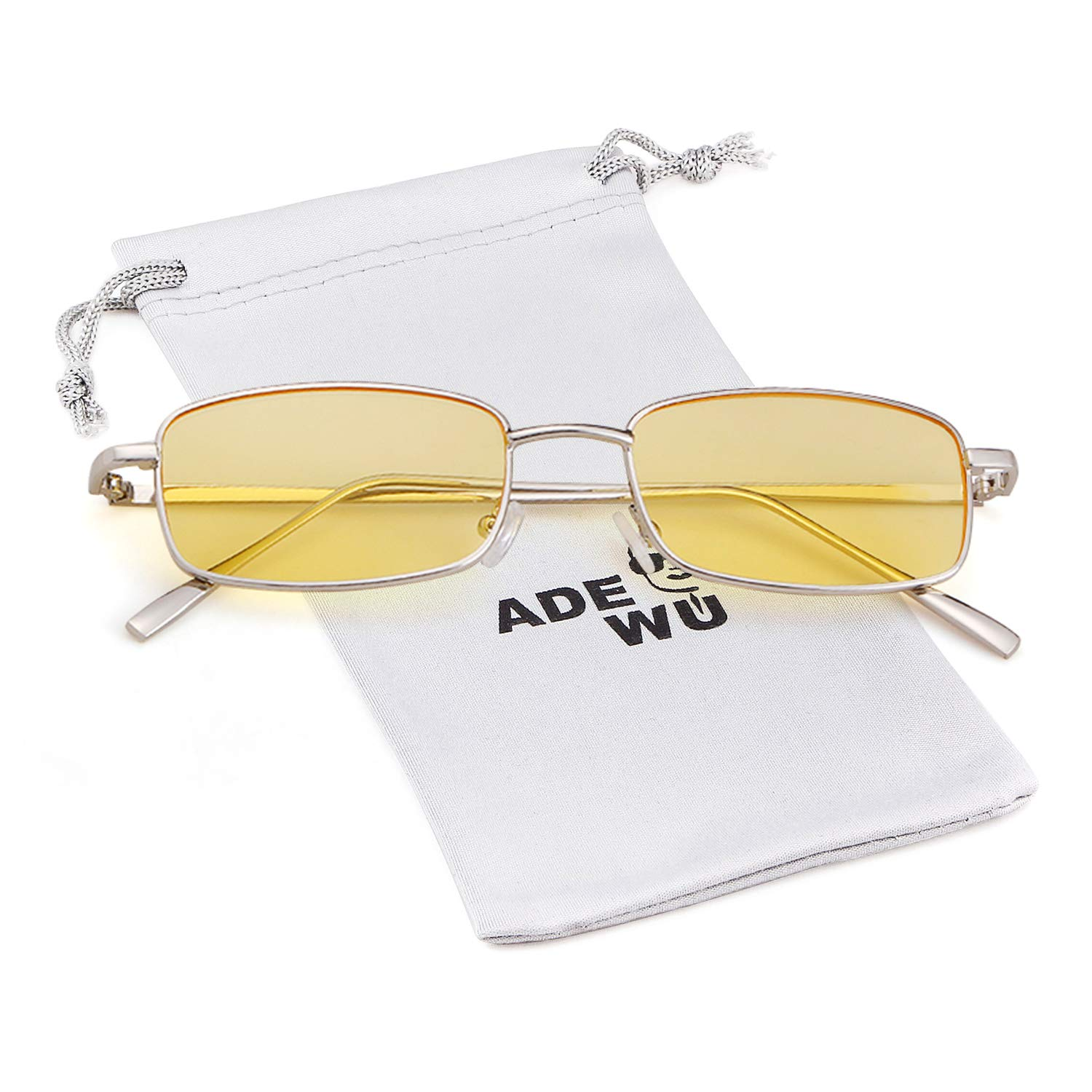 Vintage Steampunk Sunglasses Fashion Metal Frame Clear Lens Shades for Women by ADEWU (Image #1)