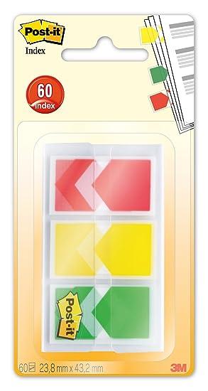 Post-it Index - Marcadores flecha de 1 pulgada y dispensador con 3 colores y 20 por color: Amazon.es: Oficina y papelería