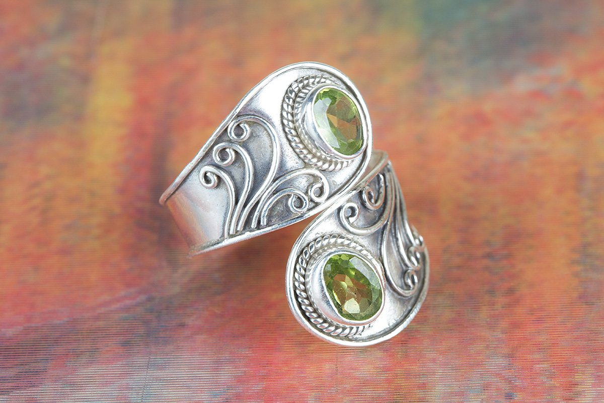 August Birthstone Ring Peridot Ring 925 Sterling Silver Ring Handmade Ring Charm Ring Victorian Ring US All Size Ring. Adjustable Ring Fashionable Ring Meditation Ring Casual Ring