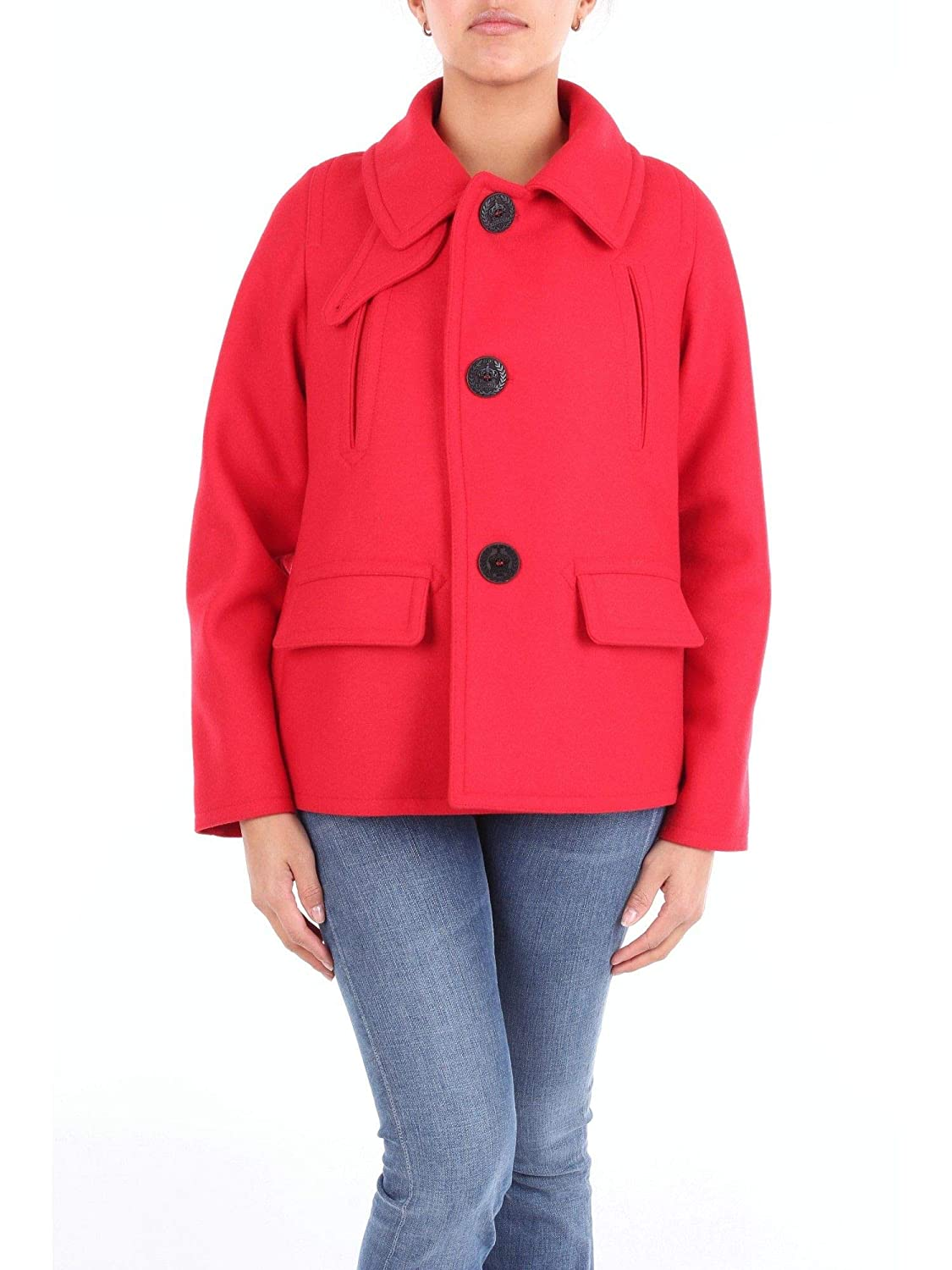Brand Size 40 DSQUARED2 Women's S75AM0583S48924307 Red Wool Jacket