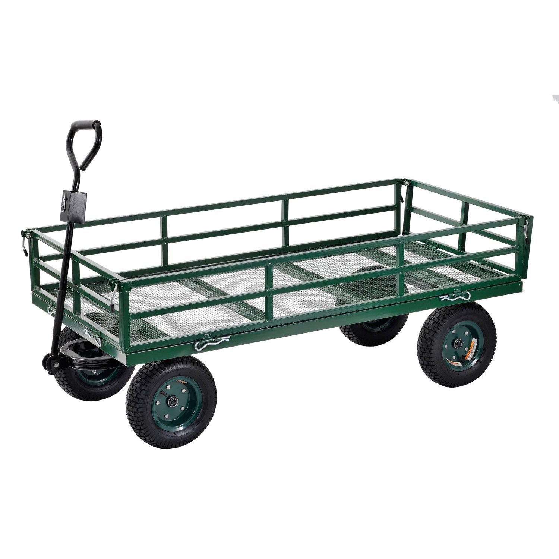 Sandusky Lee CW6031 Green Heavy Duty Steel Crate Wagon, 1400 lbs Capacity, 60'' Length x 31'' Width x 25'' Height