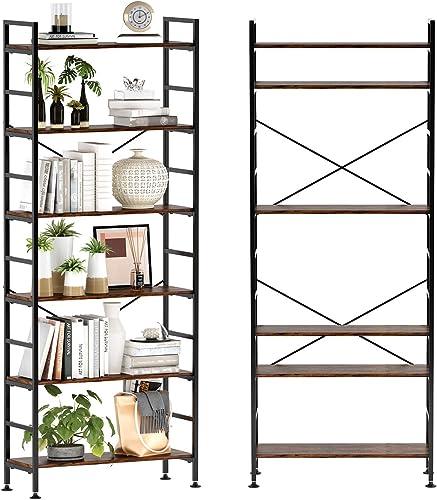 CosyStar 6-Tier Adjustable Tall Bookcase