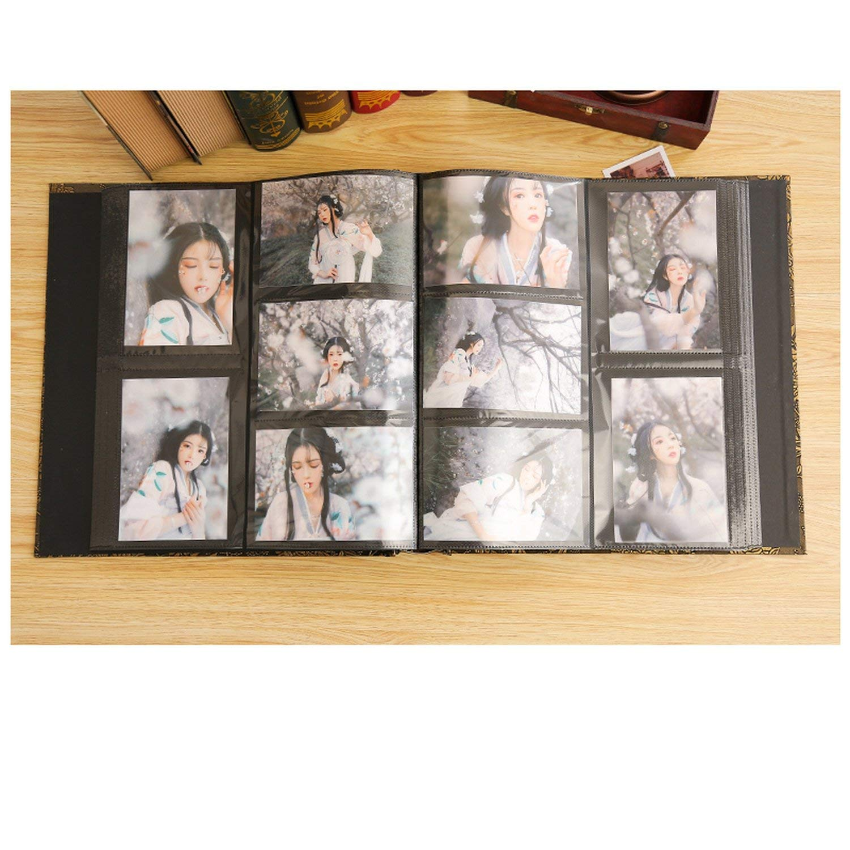 foosheeonzi 6 Inch 800 Plastic Pockets Photo Album Family Insert Large Capacity Leather Cover Gallery Family Memory Record Scrapbook Album,3 by foosheeonzi (Image #3)