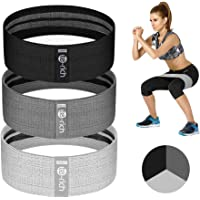 Te-Rich Resistance Bands for Legs and Butt, Fabric Workout Bands, Women/Men Stretch Exercise Loops, Thick Wide Non-Slip Gym Bootie Band 3 Set for Squat Glute Hip Training