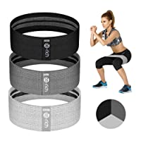 Te-Rich Resistance Bands for Legs and Butt, Fabric Workout Bands, Women/Men Stretch...
