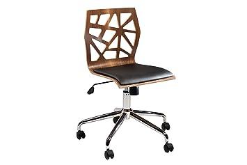 Bürostühle Holz bürostuhl funky braun rollstuhl rollenstuhl officestuhl chefsessel