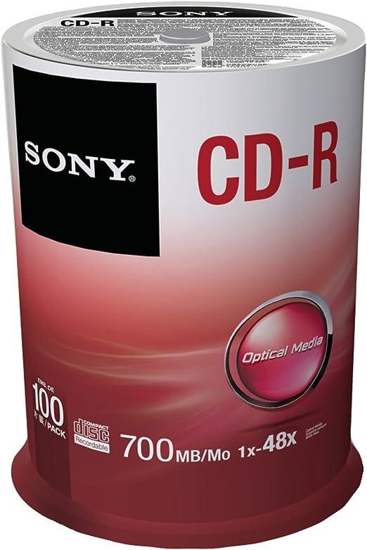 Sony 100CDQ80SP - Bobina de CD-R Virgenes (100 Unidades, 700 MB ...