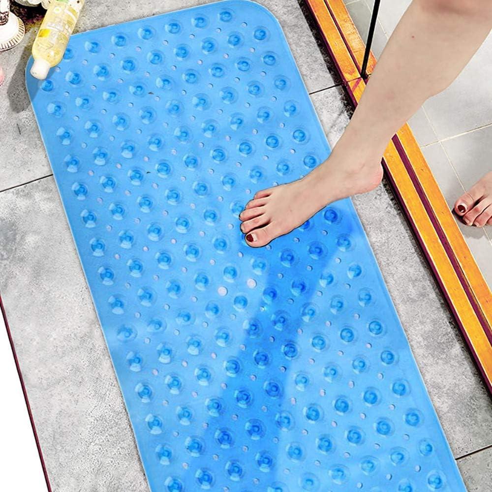40 cm Blu Nozdom Tappetino per Vasca Vasche da Bagno Tappetini Antiscivolo 100 Tappetini da Doccia con Ventosa per Il Bagno