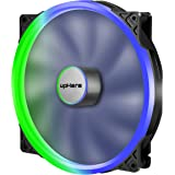upHere P200CF-200mm Hydraulic Bearing Rainbow LED Edition Fan for Computer Cases,P200CF