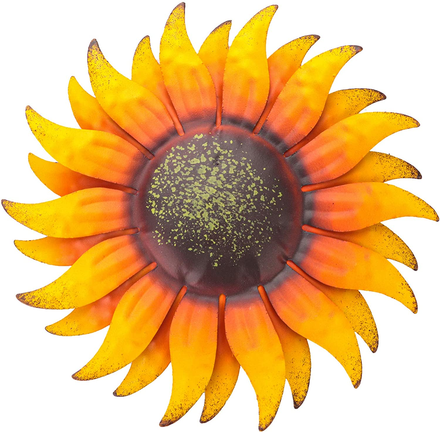 6 Inch Sunflower Metal Flowers Wall Decor Metal Wall Art Decorations Hanging for Indoor Outdoor Home Bathroom Kitchen Dining Room Bedroom Porch Hallway or Wall Sculptures