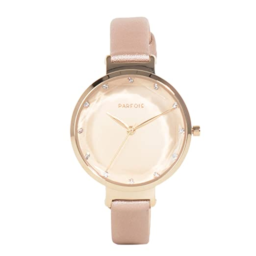 Parfois - Reloj Redondo General Watches - Mujeres - Tallas Única - Dorado 2: Amazon.es: Relojes
