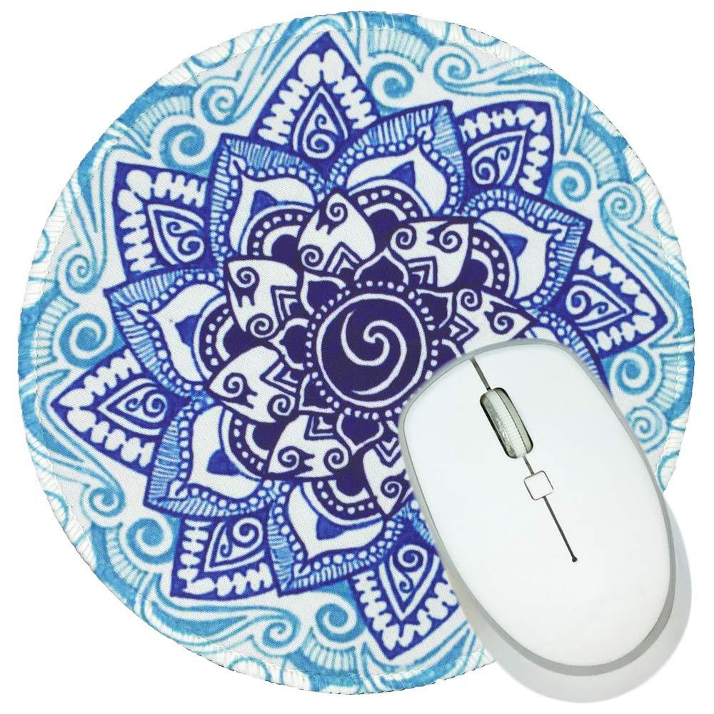 マウスパッド ノンスリップゴム ラウンドマウスパッド 仕事やゲームに最適 B07GWNB7T2 Blue Mandala  Blue Mandala