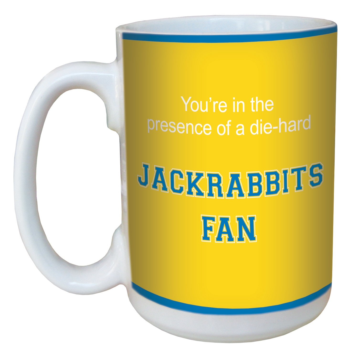 Tree-Free Greetings lm44556 Jackrabbits College Football Fan Ceramic Mug with Full-Sized Handle 15-Ounce