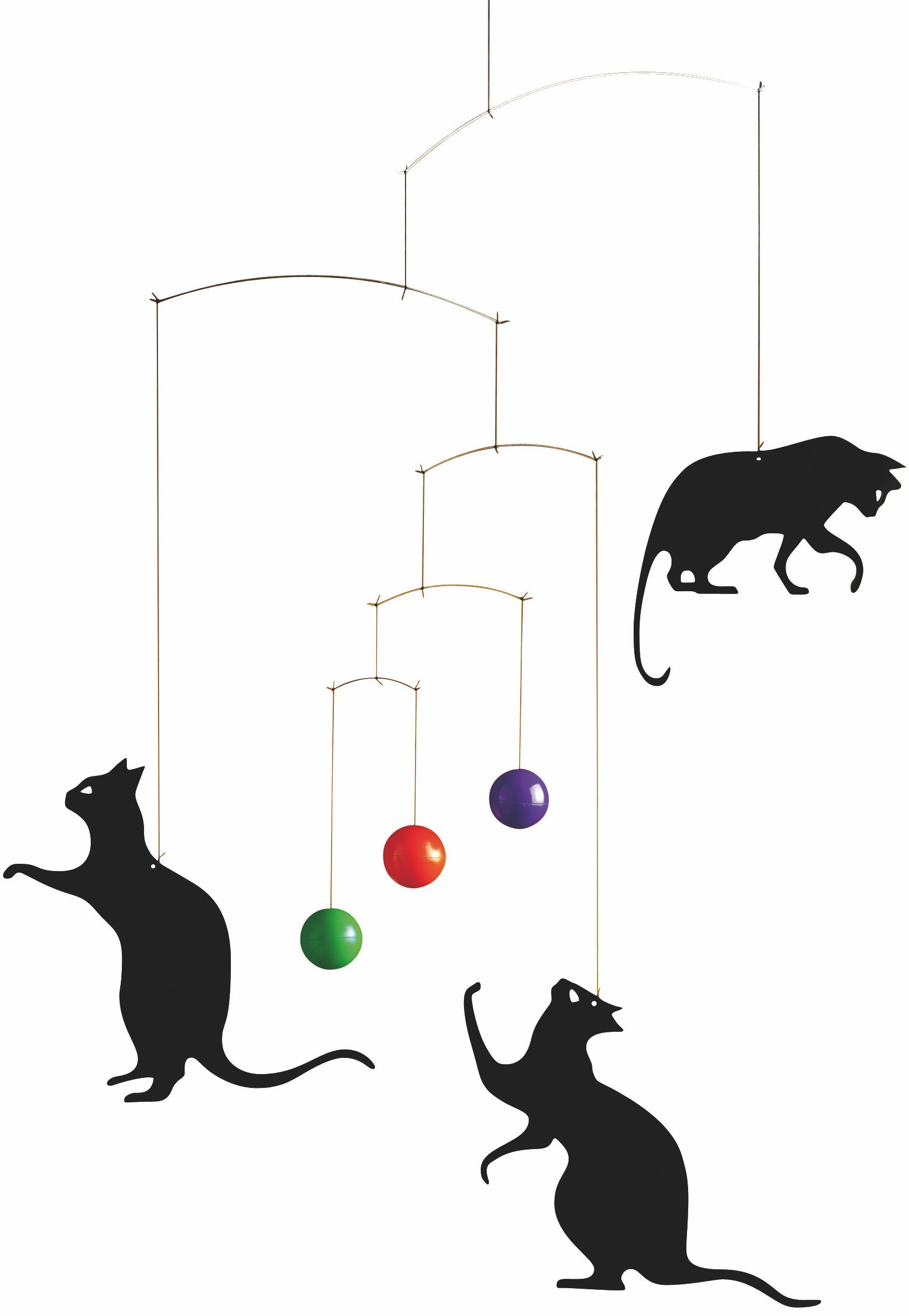 Flensted Mobiles Feline Fun Hanging Mobile - 22 Inches Plastic by Flensted Mobiles