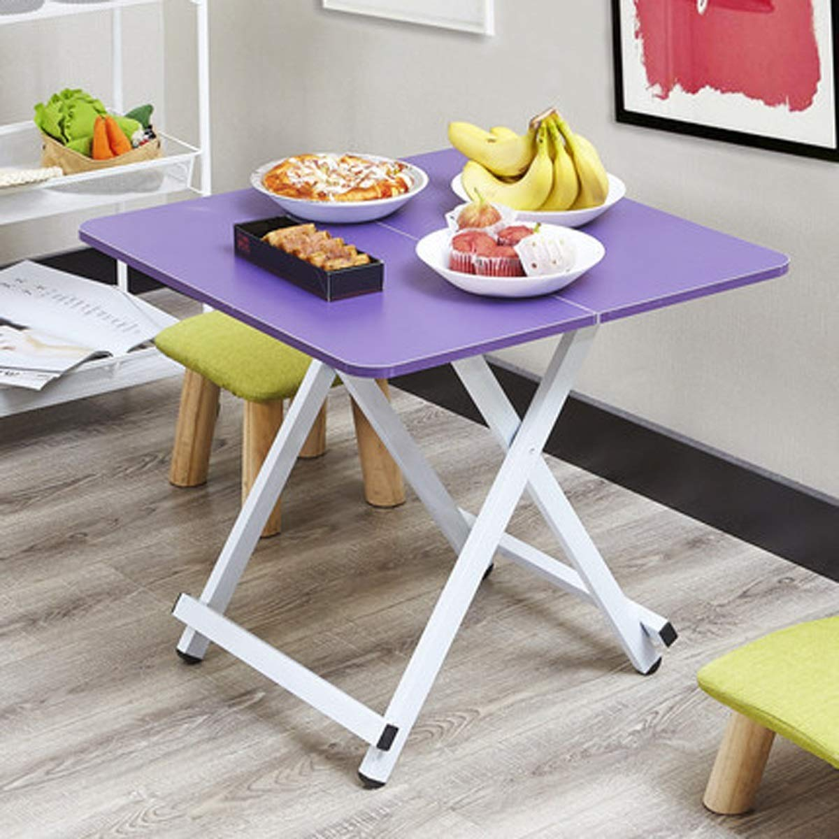 Baianju Folding Table Portable Picnic Table Outdoor Portable Table Family Folding Table Multifunctional Small Table by Baianju