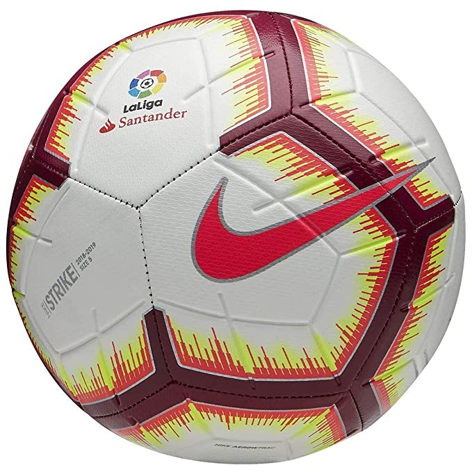Nike La Liga Strike Football WHITE/PINK FLASH/TEAM RED/TEAM RED 18 ...