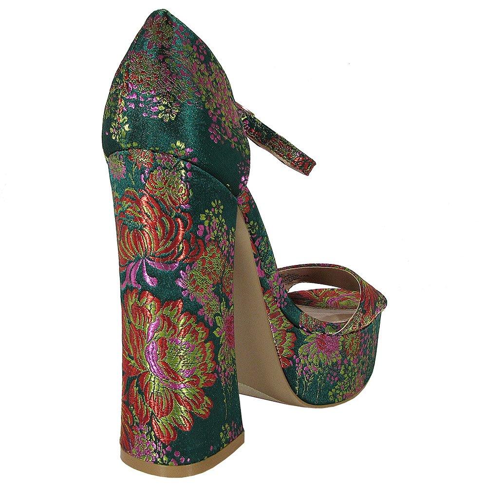 Steve Madden Womens Bonita High Heel Platform Sandal Shoes B076C46XRS 8 B(M) US Floral Multi