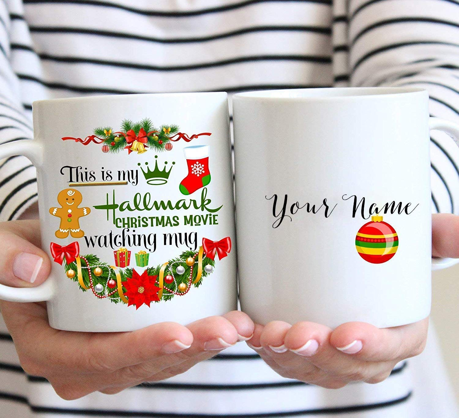 amazoncom this is my hallmark christmas movie watching mug personalized christmas gift 11oz coffee mug coffee cups mugs