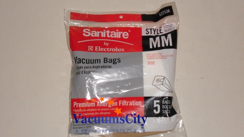 Amazon.com - Eureka Sanitaire 63253A10 Style MM Disposable Dust Bags w/Allergen Filter for 3670G/SC3683A/SC3683B, 5/PK -