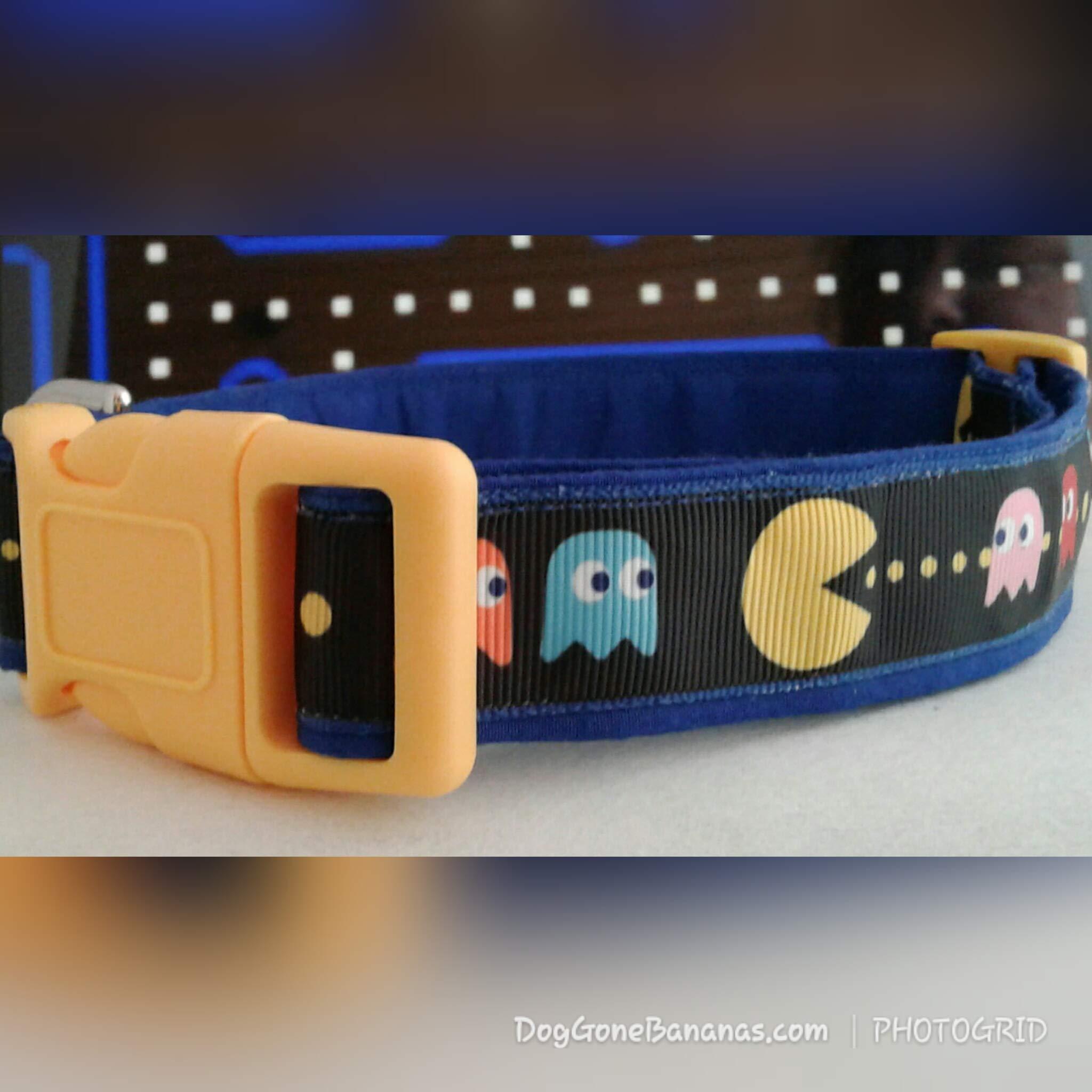 PACMAN Dog Collar with Leash Option